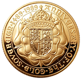 1989 Proof 500th Anniversary sovereign by Bernard Sindall