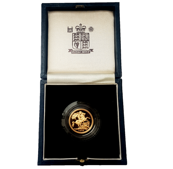 1992 Queen Elizabeth II Proof Gold Half Sovereign + Capsulated / Case