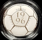 1996 United Kingdom Silver Proof £2 Two 'EURO 96' Two Pound Coin