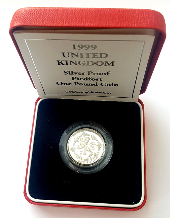 1999 UK Proof Silver Piedfort £1 Coin