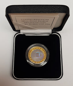 1999 United Kingdom Silver Proof £2 Two 'RUGBY' Two Pound Coin