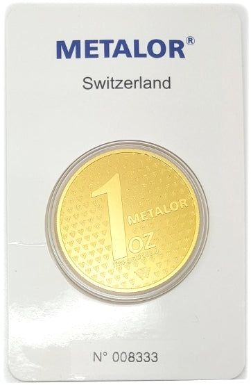 Gold Bullion Bars / METALOR 1 Ounce Coin