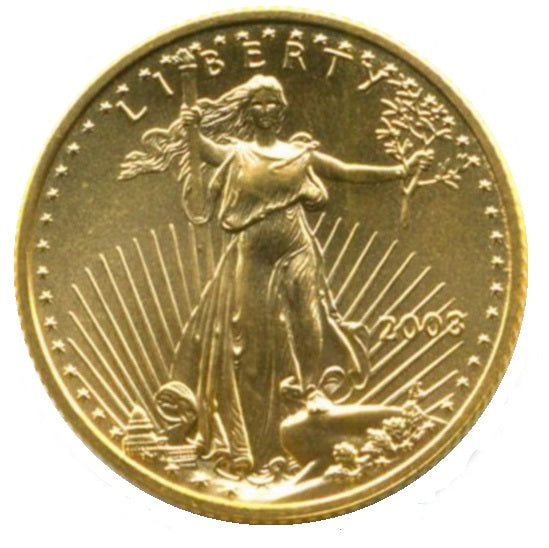 American (USA) Fine Gold Liberty Eagles 1/4 - 1 oz