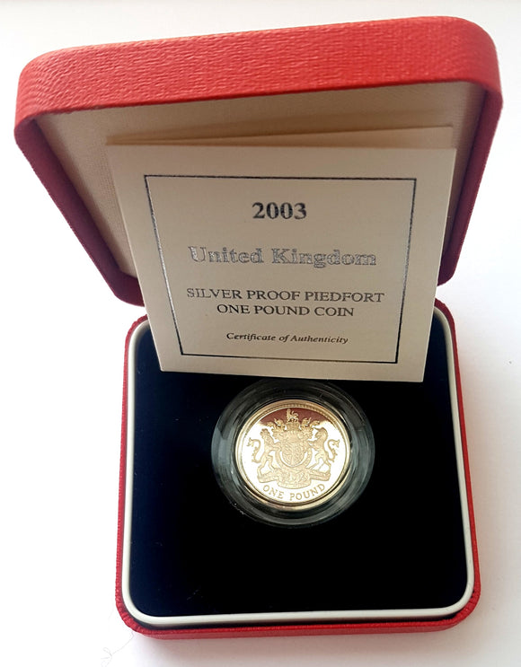 2003 UK Proof Silver Piedfort £1 Coin