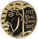 2017 Queen Elizabeth II King Canute Gold Proof £5 Boxed / COA