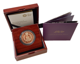 2017 Queen Elizabeth II  House of Windsor + Gold Proof £5 Boxed / COA