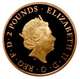 2019 Queen Elizabeth II Samuel Pepys Gold Proof £2 - Boxed / Coa
