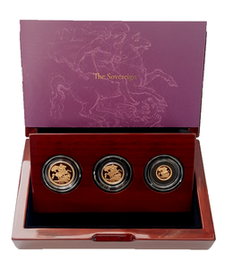 2021 Queen Elizabeth II 3 Coin '95th Birthday' Gold Proof Sovereign Set +COA
