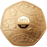 2021 50th Anniv of Decimal Day Gold Proof 50p Coin PIEDFORT - Issue Limit 200