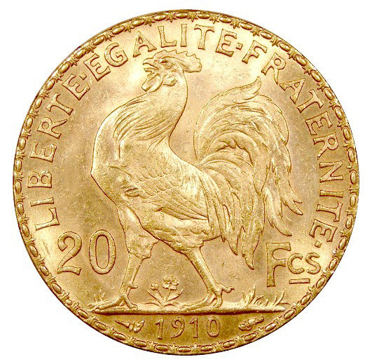 French 20 Franc .900 Fineness 0.187 oz Gold