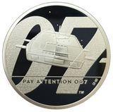 2020 Queen Elizabeth II 'PAY ATTENTION 007' 999 fine silver Proof Coins