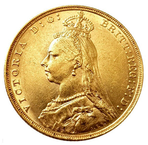 1892 Queen Victoria Jubilee Head Gold Sovereign (London)
