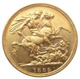 1889-M Queen Victoria Jubilee Head Gold Sovereign (Melbourne)