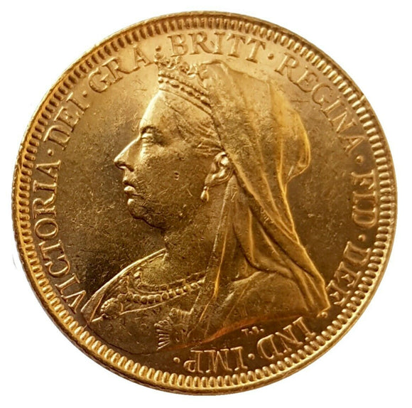 1894-M Queen Victoria Widow Head Gold Sovereign (Melbourne)