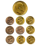 1902-1910 King Edward VII Gold Sovereigns + Capsulated within Luxury Case