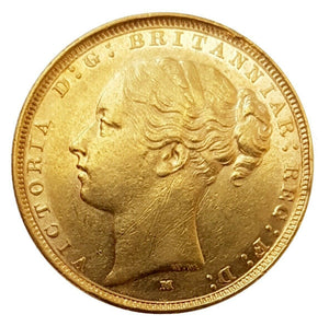 1887 Queen Victoria Young Head Gold Sovereign (Melbourne)