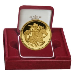 2005 Queen Elizabeth II Proof Gold Half Sovereign + Luxury Case COA