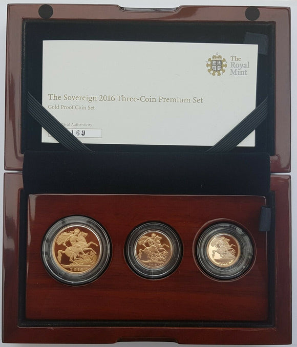 2016 Queen Elizabeth II JAMES BUTLER 3 Coin PREMIUM Sovereign Set