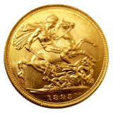 1895-S Queen Victoria Widow Head Gold Sovereign (Sydney)