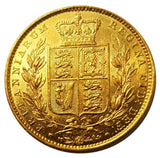 1852 Queen Victoria Shield Reverse Sovereign - STUNNING AUNC
