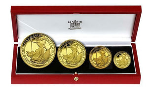 2004 Queen Elizabeth II 4 Coin Gold Britannia Set + COA