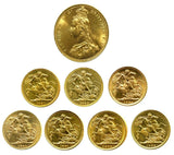 1887-1893 Queen Victoria JH Gold Sovereigns + Capsulated within Luxury Case
