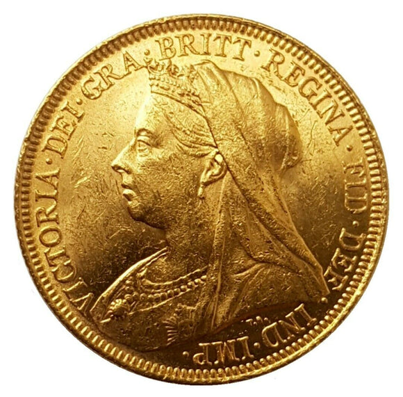1894-S Queen Victoria Widow Head Gold Sovereign (Sydney)