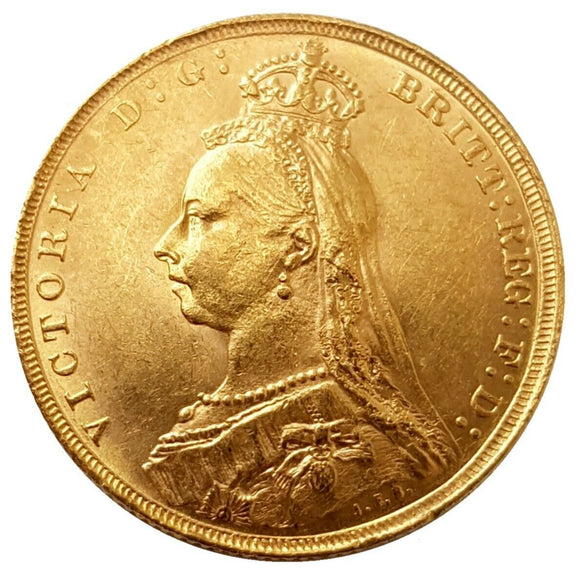 1889 Queen Victoria Jubilee Head Gold Sovereign (London)