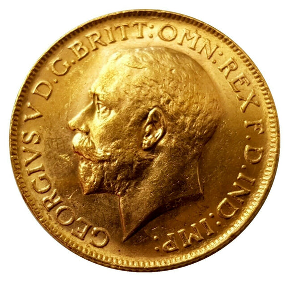 1912-P King George V Gold Sovereign (Perth)