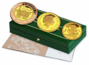 2004 Queen Elizabeth II Proof 3 Coin Gold Proof Sovereign Set + COA
