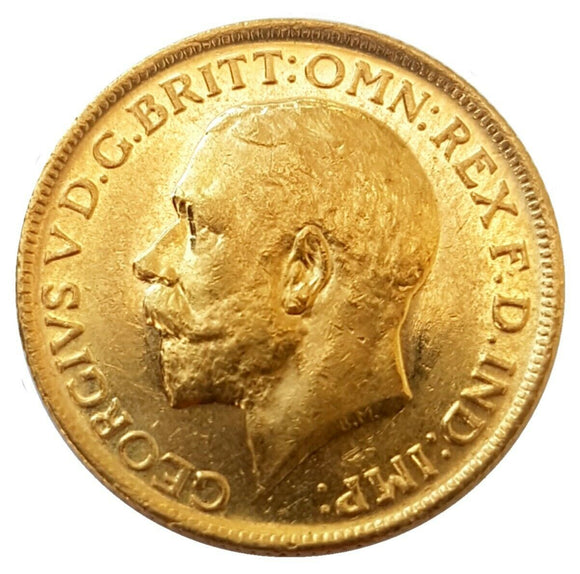 1911-M King George V Gold Sovereign (Melbourne)