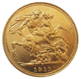 1911-S King George V Gold Sovereign (Sydney)