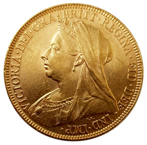 1894 Queen Victoria Widow Head Gold Sovereign (London)