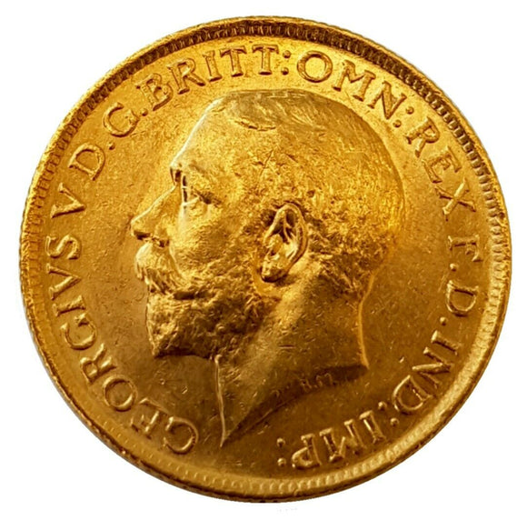 1913-S King George V Gold Sovereign (Sydney)