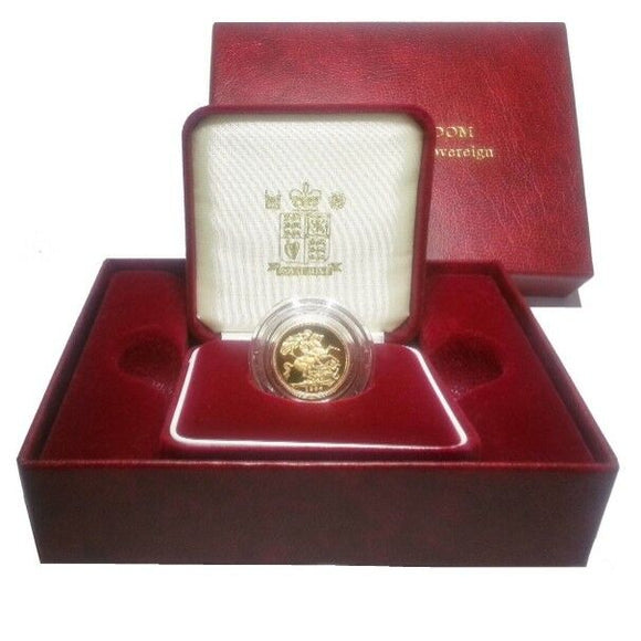 2003 Queen Elizabeth II Proof Gold Half Sovereign + Capsulated within Case / COA