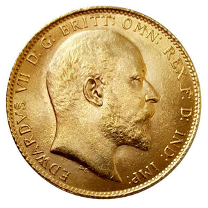 1909 King Edward VII Gold Sovereign (London) AUNC