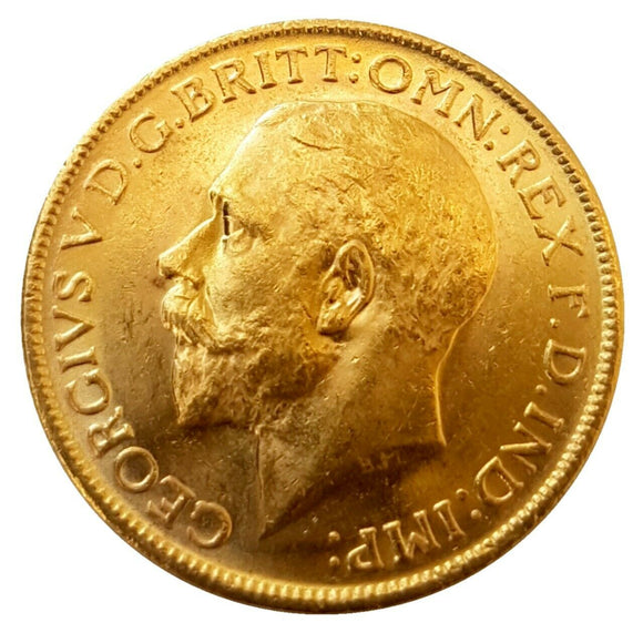1912-M King George V Gold Sovereign (Melbourne)