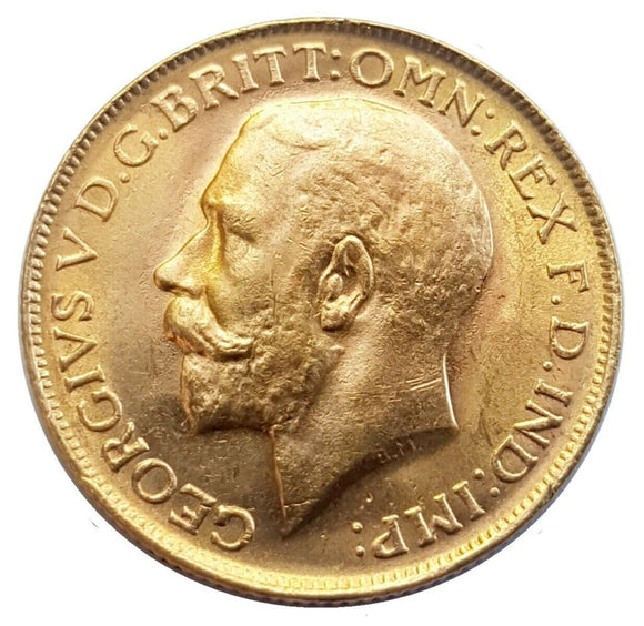 1913-P King George V Gold Sovereign (Perth)