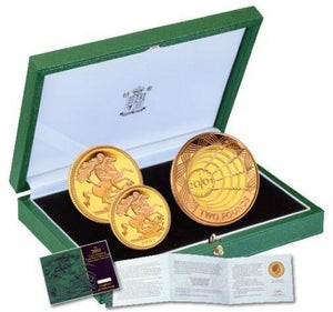 2001 Queen Elizabeth II Proof 3 Coin Gold Proof Sovereign Set + COA