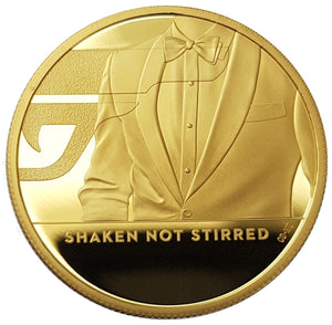 2020 Queen Elizabeth II 'SHAKEN NOT STIRRED' 999.9 1/4oz / 1oz / 2oz Gold Proof Coins
