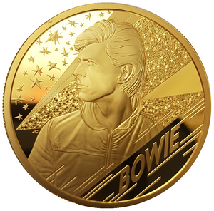 2020 Music Legends 'David Bowie' 2oz 999.9 Gold Proof Coin