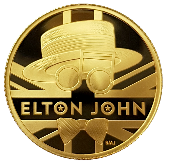 2020 Music Legends 'Sir Elton John' 1/4 oz 999.9 Gold Proof Coin