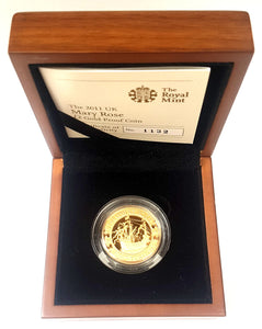 2011 Queen Elizabeth II Gold Proof Mary Rose £2 - Boxed / Coa
