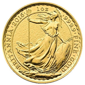 Britannia's (UK) 1/10th - 1oz .9999 Fine Gold (2013-2018)