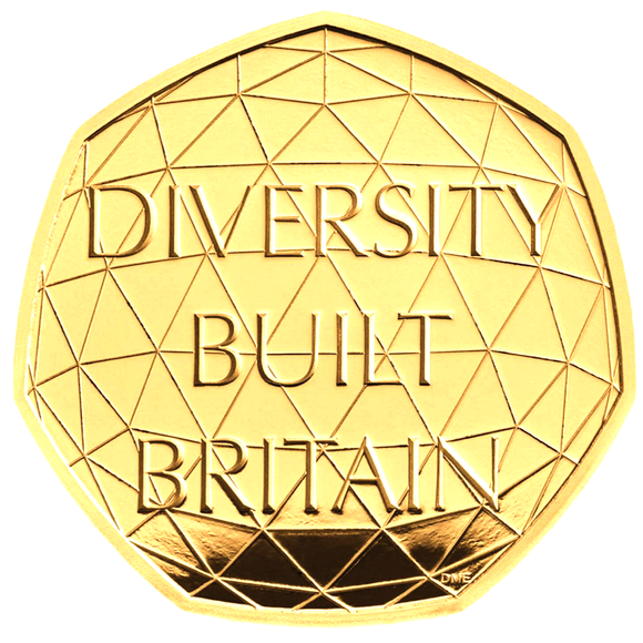 2020 Queen Elizabeth II 'Celebrating British Diversity' Gold Proof 50P - 950 issue Limit.