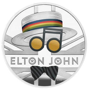 2020 Music Legends 'Sir Elton John' 1 oz 999 fine silver Proof Coin