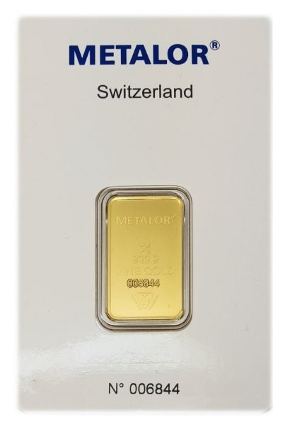 Gold Bullion Bars / METALOR 5g (gram) Ingot