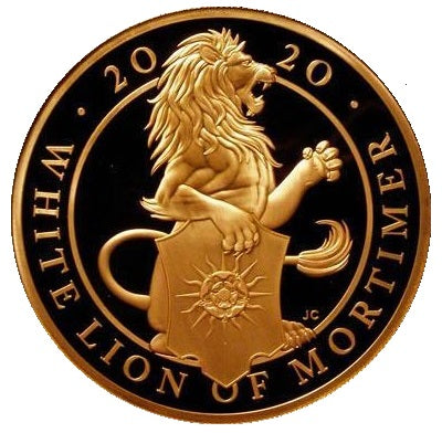 2020 Queen Elizabeth II 'White Lion of Mortimer' 1 oz 999.9 Gold Proof Coin