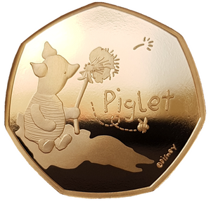 2020 Piglet' Gold Proof 50P - 525 issue Limit.
