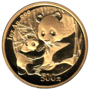 Chinese Panda's Fine Gold 1/10th - 1 oz (1982-2015)